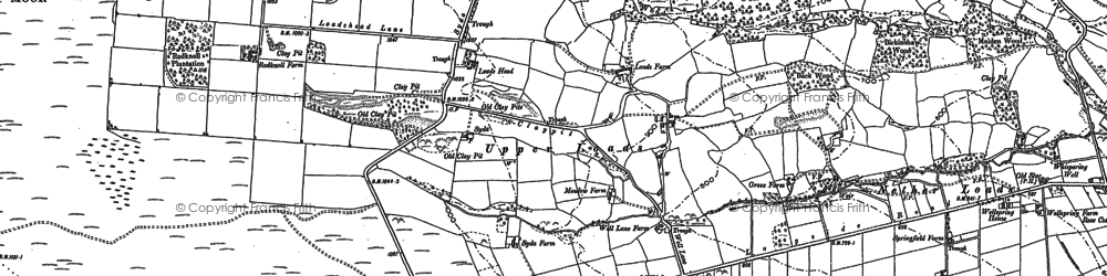 Old map of Nether Loads in 1876