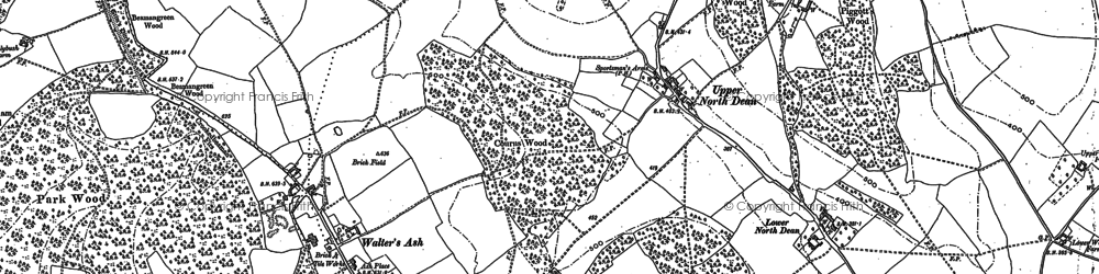 Old map of Upper North Dean in 1897