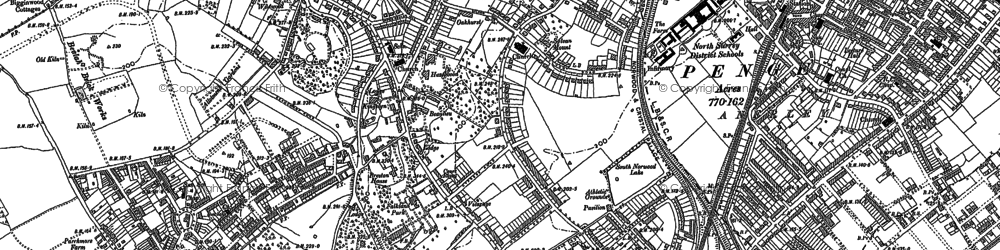 Old map of Upper Norwood in 1894