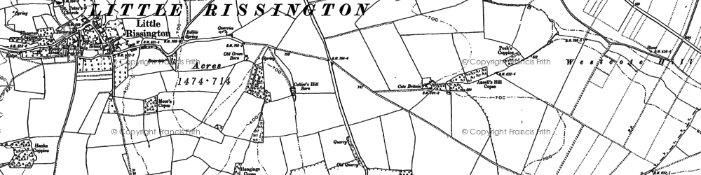 Old map of Wyck Beacon in 1900