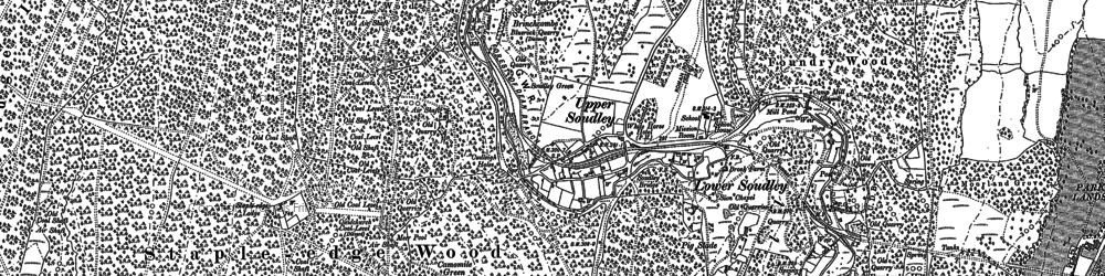 Old map of Upper Soudley in 1879