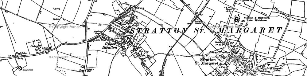 Old map of Pinehurst in 1899