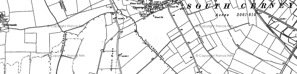 Old map of Ashton Down in 1920