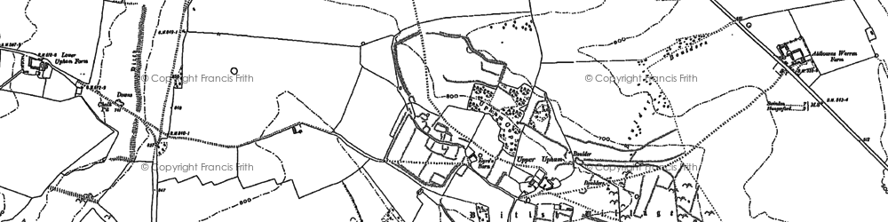 Old map of Liddington Hill in 1899