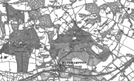 Old Map of Upper Woolhampton, 1898 - 1909
