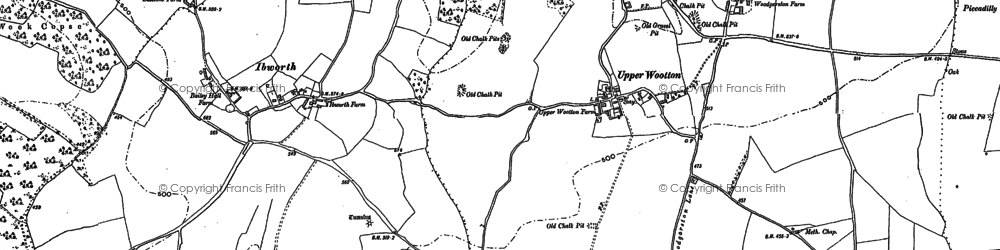 Old map of Whitedown in 1894