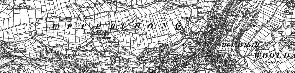 Old map of Wilshaw in 1888