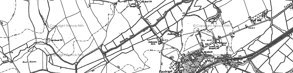Old map of Upstreet in 1896