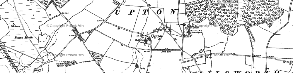 Old map of Ailsworth Heath in 1885