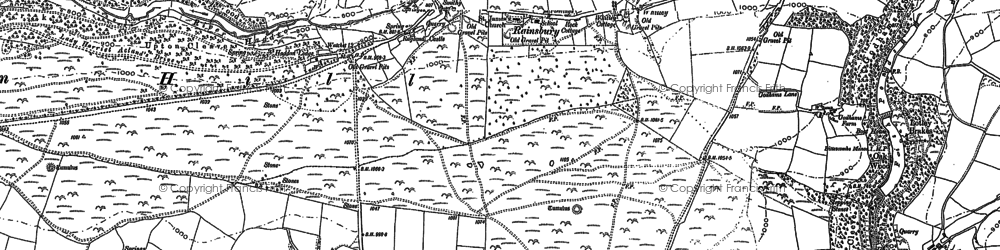 Old map of Yellands in 1887