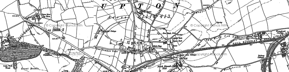 Old map of Wrangbrook in 1891