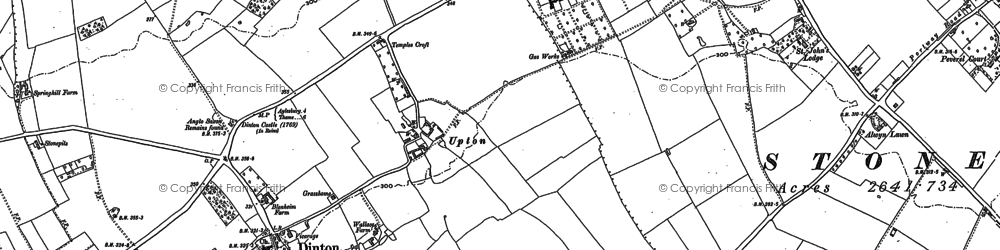 Old map of Upton in 1898