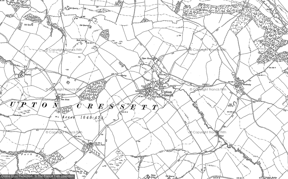 Old Map of Historic Map covering Lightwood in 1882