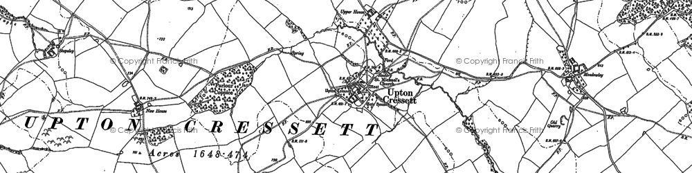 Old map of Lightwood in 1882