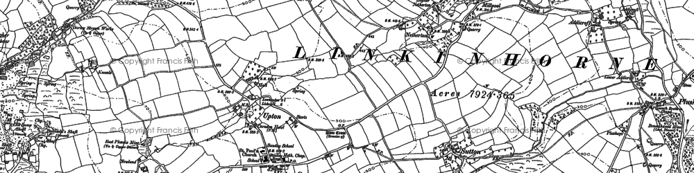 Old map of Dunslea in 1882