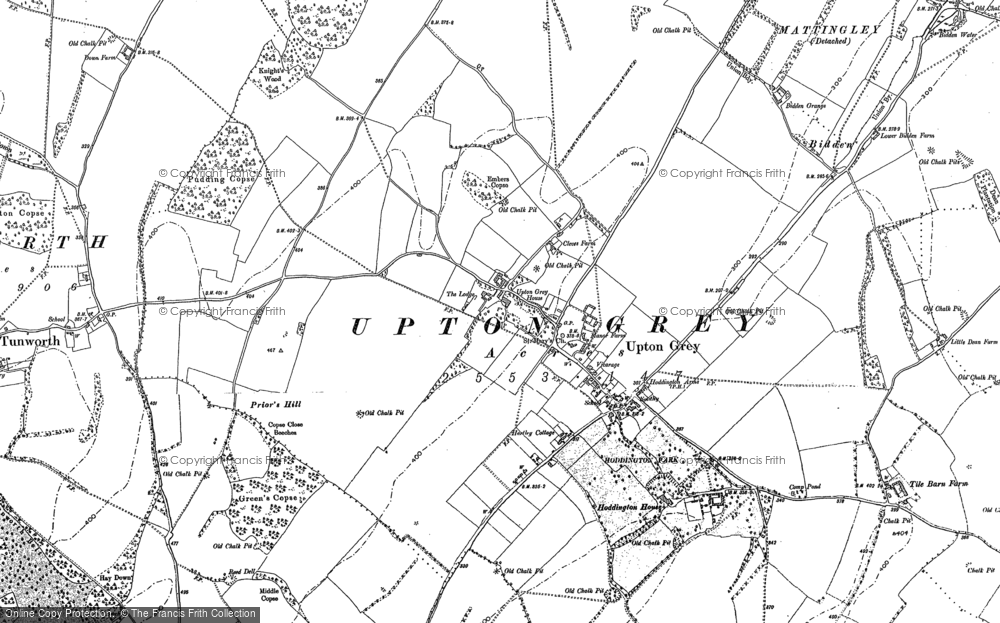 Old Map of Upton Grey, 1894 in 1894