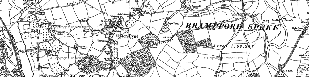 Old map of Langford in 1886