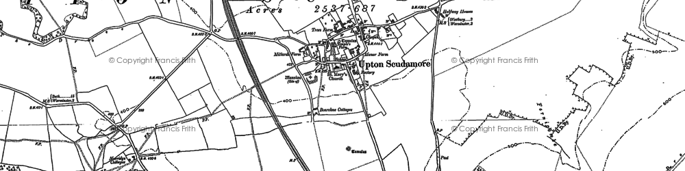 Old map of Halfway in 1922