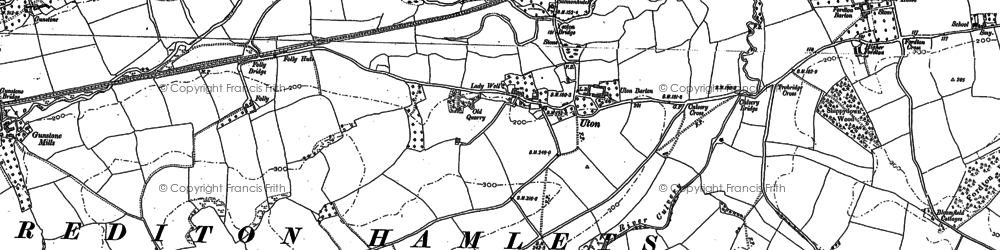 Old map of Yeoton Br in 1886