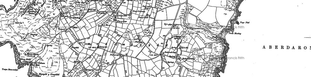Old map of Tir Glyn in 1899