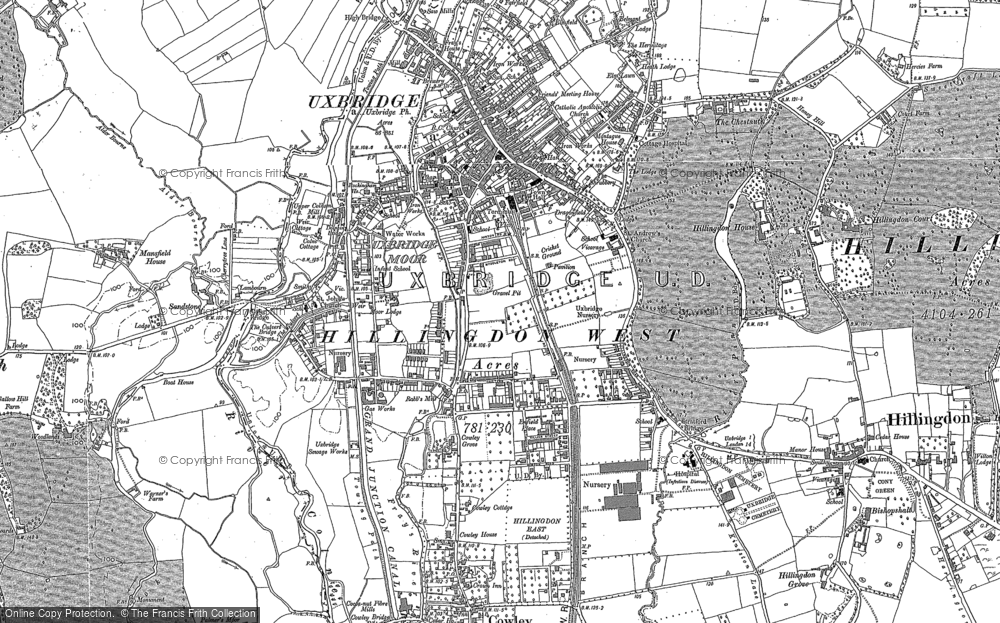 Map of Uxbridge, 1897 - 1932
