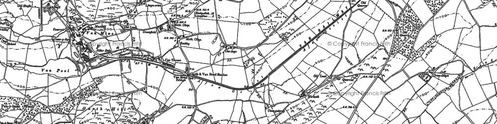 Old map of Y Fan in 1885