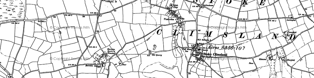Old map of Venterdon in 1905