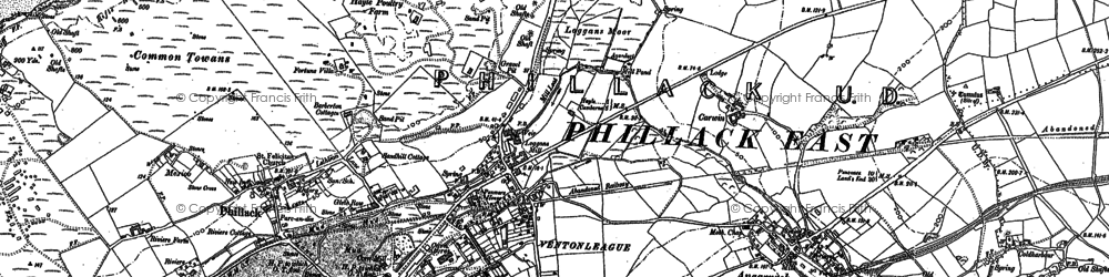 Old map of Ventonleague in 1877