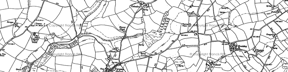 Old map of Veryan Green in 1879