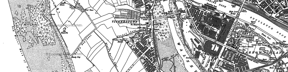 Old map of Barrow in 1910
