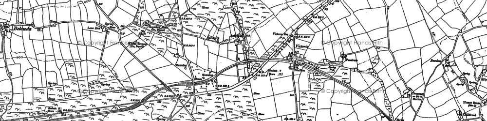 Old map of Lower Brynn in 1880