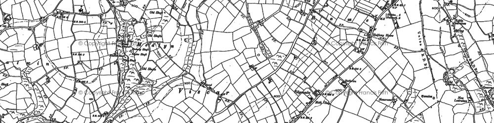 Old map of Medlyn in 1878