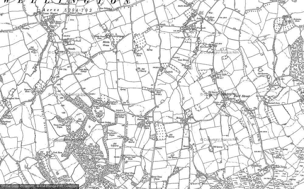 Old Map of Historic Map covering Legglands in 1903