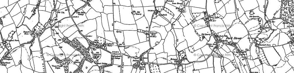Old map of Legglands in 1903