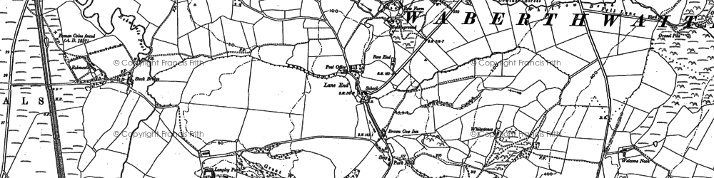 Old map of Waberthwaite in 1897