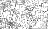 Old Map of Wacton, 1883