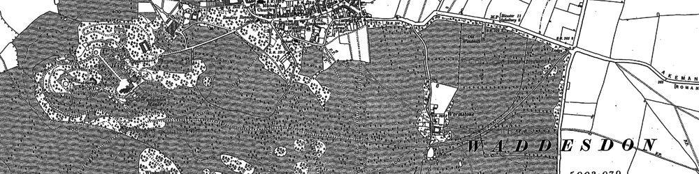Old map of Waddesdon in 1898