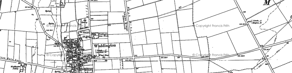 Old map of Waddington in 1886