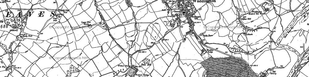 Old map of Waddington in 1930