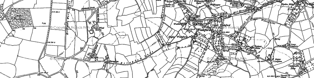 Old map of Willhayne in 1901