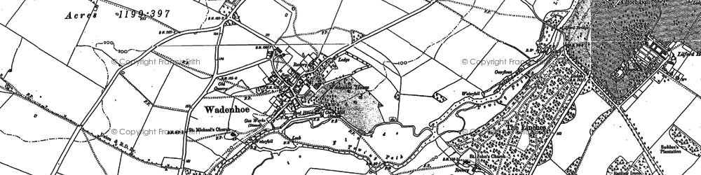 Old map of Aldwincle Lodge in 1885