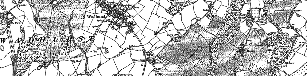 Old map of Wadhurst in 1908