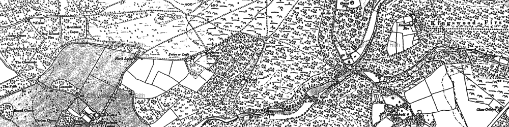 Old map of Whitmoor Vale in 1909