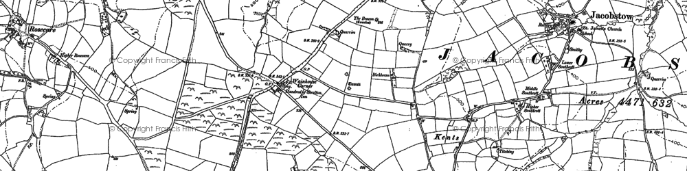 Old map of Wainhouse Corner in 1905