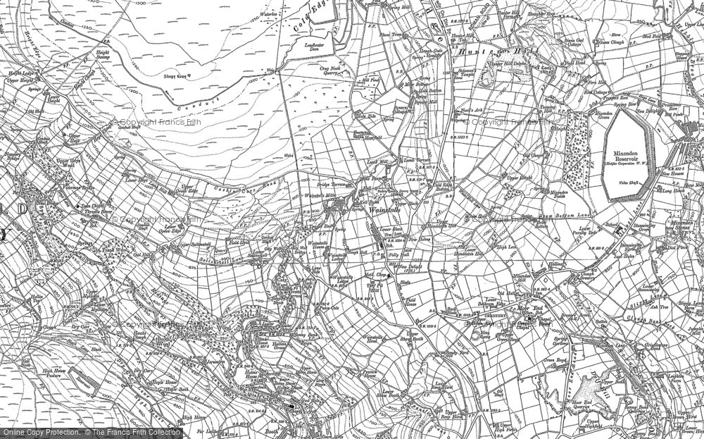 Old Map of Wainstalls, 1892 - 1893 in 1892
