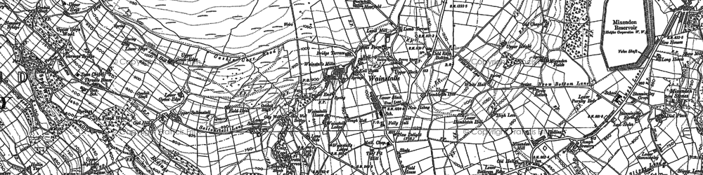 Old map of Wainstalls in 1892