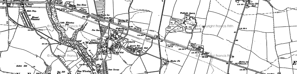 Old map of Blucher in 1894