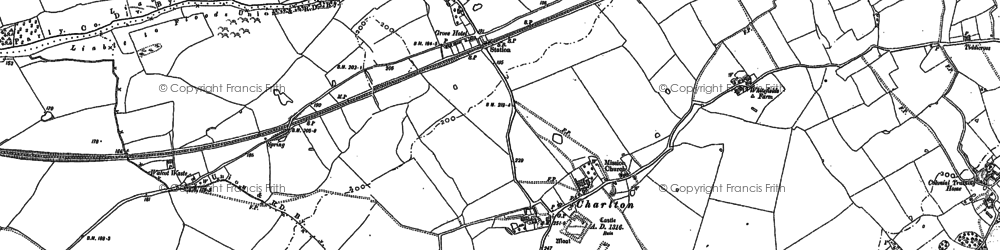 Old map of Lees, The in 1881