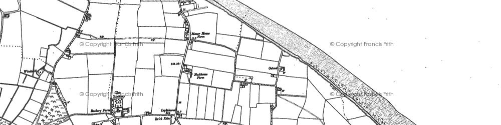 Old map of Walcott in 1885