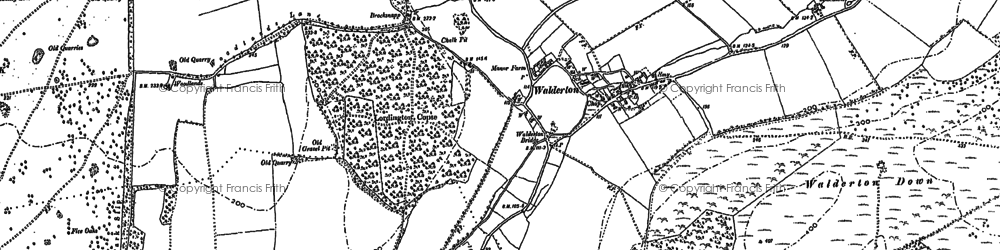 Old map of Woodlands Cotts in 1910